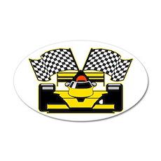 YELLOW RACECAR Wall Decal