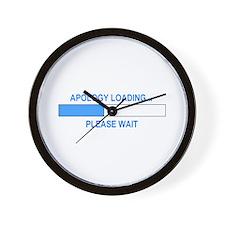 APOLOGY LOADING... Wall Clock