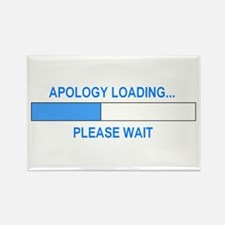 APOLOGY LOADING... Rectangle Magnet