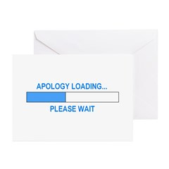 APOLOGY LOADING... Greeting Cards (Pk of 20)