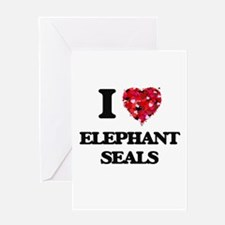 I love Elephant Seals Greeting Cards