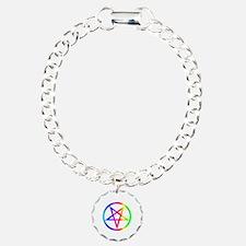 Rainbow Satanism Symbol Bracelet