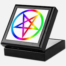 Rainbow Satanism Symbol Keepsake Box