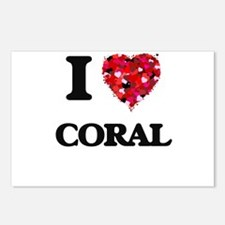 I love Coral Postcards (Package of 8)