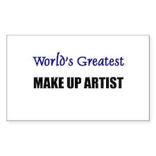 Worlds Greatest MAKE UP ARTIST Sticker (Rectangula