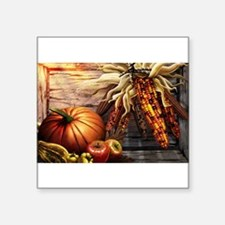 "Cute Thanksgiving Square Sticker 3"" x 3"""