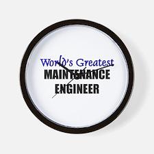 Worlds Greatest MAINTENANCE ENGINEER Wall Clock