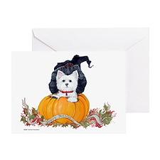 Westie Halloween Witch Greeting Card
