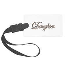 Gold Daughter Luggage Tag