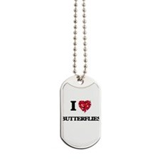 I love Butterflies Dog Tags