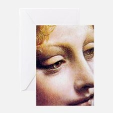 Leonardo da Vinci - Angel (detail) Greeting Cards