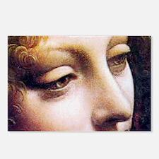 Leonardo da Vinci - Angel (detail) Postcards (Pack