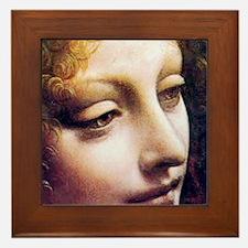 Leonardo da Vinci - Angel (detail) Framed Tile