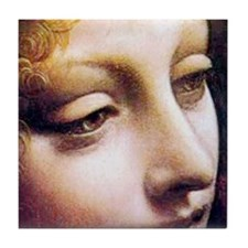 Leonardo da Vinci - Angel (detail) Tile Coaster