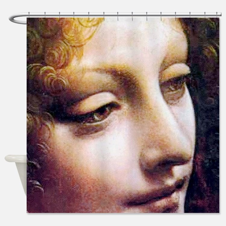 Leonardo da Vinci - Angel (detail) Shower Curtain