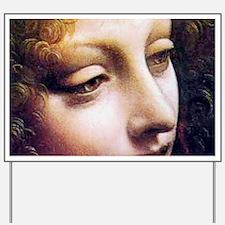 Leonardo da Vinci - Angel (detail) Yard Sign