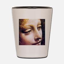 Leonardo da Vinci - Angel (detail) Shot Glass