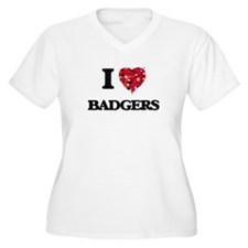 I love Badgers Plus Size T-Shirt