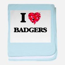 I love Badgers baby blanket
