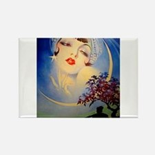 Henry Clive Woman in the Moon, Art Deco Magnets