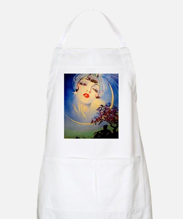 Henry Clive Woman in the Moon, Art Deco Apron