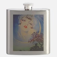 Henry Clive Woman in the Moon, Art Deco Flask