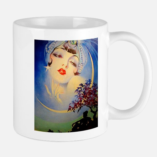 Henry Clive Woman in the Moon, Art Deco Mugs