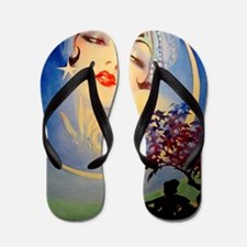 Henry Clive Woman in the Moon, Art Deco Flip Flops