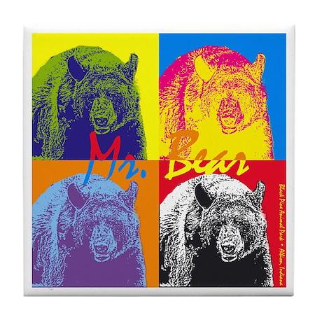 Mr. Bear - Warhol Tile Coaster