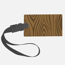 Faux Wood Grain - Dk. Oak Buff Luggage Tag
