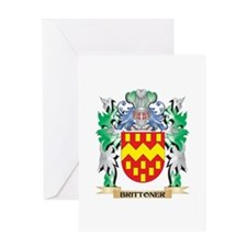 Brittoner Coat of Arms - Family Cre Greeting Cards