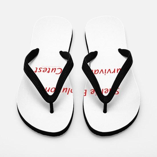 Sheltie Evolution Survival of the Cutest Flip Flop