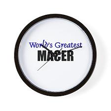 Worlds Greatest MACER Wall Clock