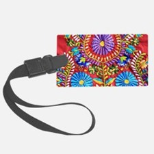 Mexican Embroidery  Luggage Tag
