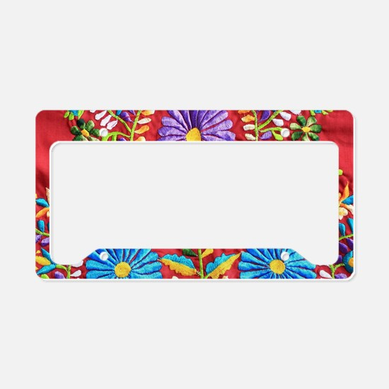 Mexican Embroidery  License Plate Holder