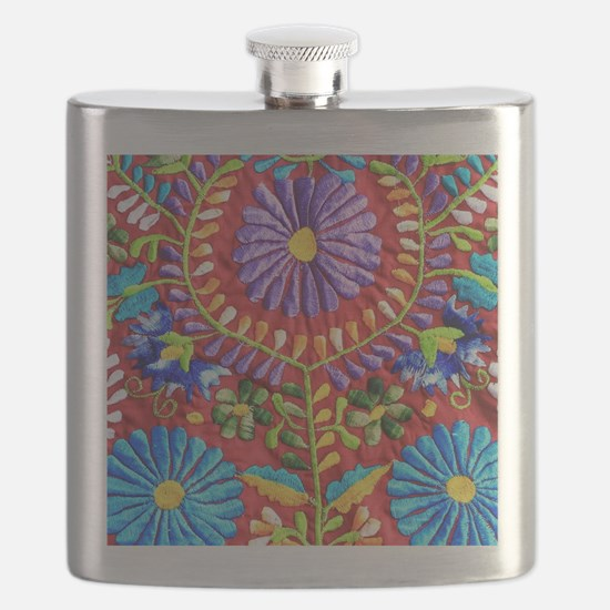 Mexican Embroidery Flask