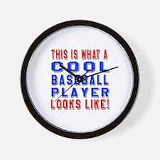 Baseball Player Looks Like Wall Clock