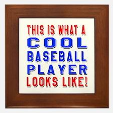 Baseball Player Looks Like Framed Tile