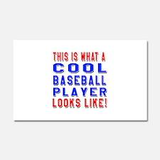 Baseball Player Looks Like Car Magnet 20 x 12