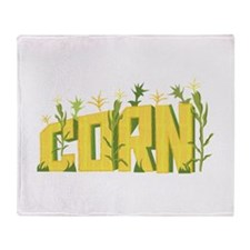Corn Field Throw Blanket