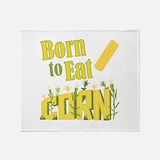 Eat Corn Throw Blanket