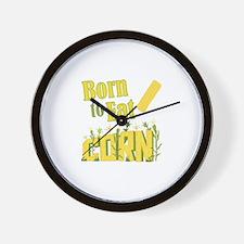 Eat Corn Wall Clock