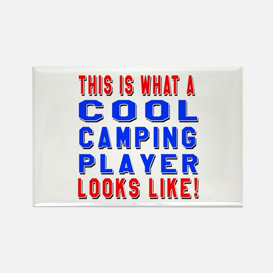Camping Player Looks L Rectangle Magnet (100 pack)