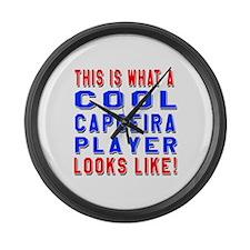 Capoeira Player Looks Like Large Wall Clock