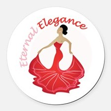 Eternal Elegance Round Car Magnet