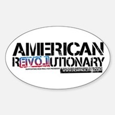 American Revolutionary Oval Decal