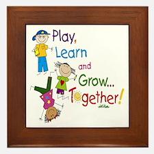 Play Learn Grow Framed Tile