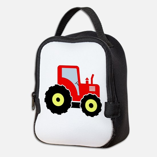 Red toy tractor Neoprene Lunch Bag