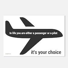 Passenger or pilot Postcards (Package of 8)