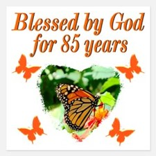BLESSED 85TH Invitations